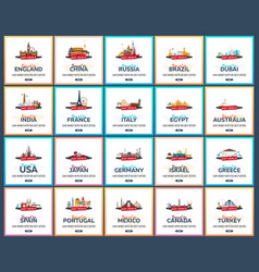 travel template banners for social media hot vector image