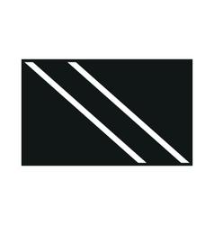 Trinidad and Tobago flag monochrome on white vector