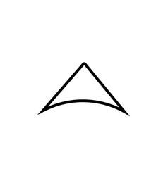 up arrow modern icon vector image