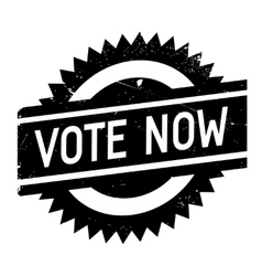 Vote now stamp vector