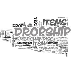 when you decide to dropship text word cloud vector image