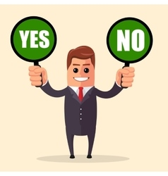 Yes or no choice business concept web info vector
