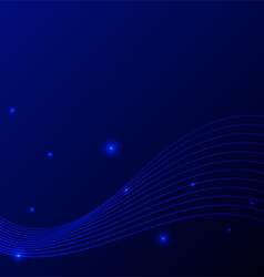 Abstract blue modern wave stripe line background vector