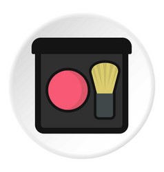 blush icon circle vector image
