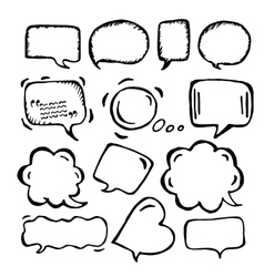 Doodle speech bubbles of different sizes and forms vector image vector image
