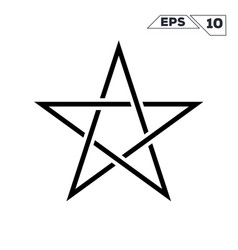 Line art minimalist symbol of the star vector