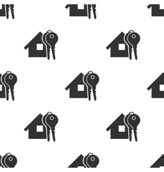 Seamless home and keys background vector image