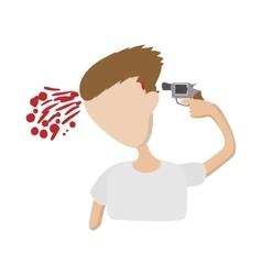 A man commits suicide icon cartoon style vector image vector image
