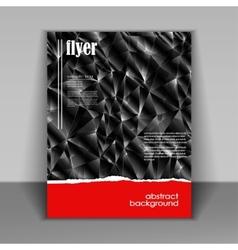 flyer brochure vector image
