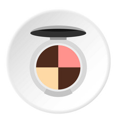 Round palette eye shadow icon circle vector
