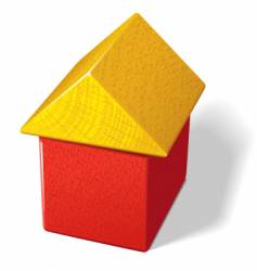 toy block house vector image vector image