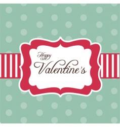 valentines frame vector image