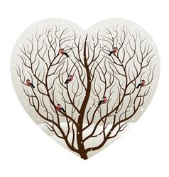 winter in heart vector image