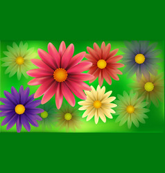 Blur flowers abstract background vector image vector image