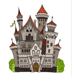 Cartoon fairy tale castle tower icon Cute vector image