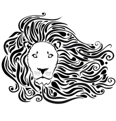 lion black vector image