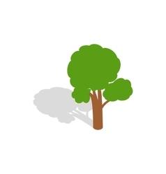 Tree icon isometric 3d style vector image