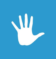 Arm icon white on the blue background vector