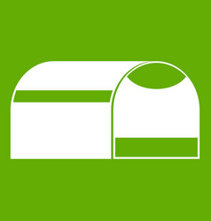 booth for dog icon green vector image vector image