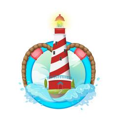 lighthouse symbol logo design vector image vector image