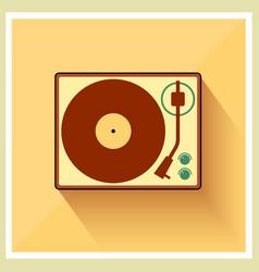 Retro turntable vinyl record player vector image