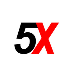 5x sign icon vector image