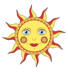 abstract cartoon sun vector image