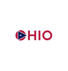 Abstract minimalist wordmark ohio flag logo vector
