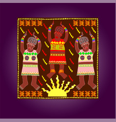 african style colorful artwork vector image