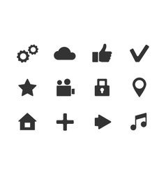 apps icon set over white background vector image