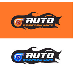 Auto performance logo vector