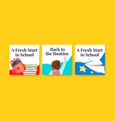 Back to school and education concept vector
