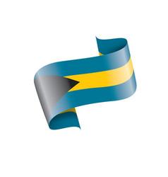 bahamas flag on a white vector image