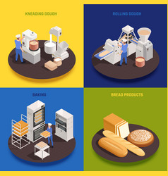 bakery confectionery isometric concept vector image