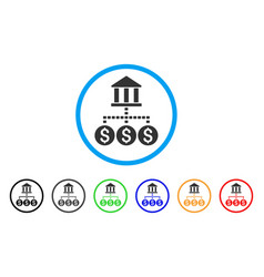 Bank structure rounded icon vector