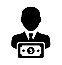 Banking icon male user person profile avatar sign vector
