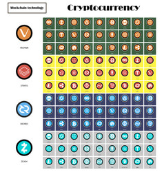 Big set crypto currency logo coins lumens vector