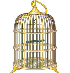 bird cage eps10 vector image