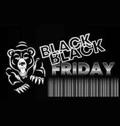 black friday sale banner layout design vector image