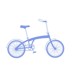 Blue bicycle on white background vector