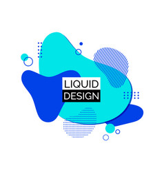 blue liquid shapes abstract trendy fluid vector image