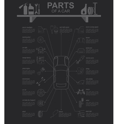 Car service repair Infographics vector image