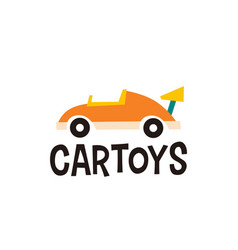 Car toys logo icon vector