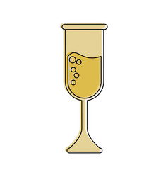 champagne glass icon image vector image