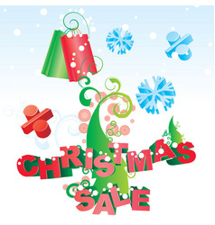 Christmas tree sale image vector