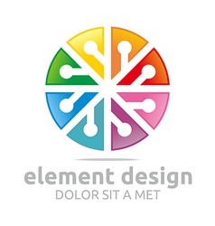 colorful element design symbol icon vector image