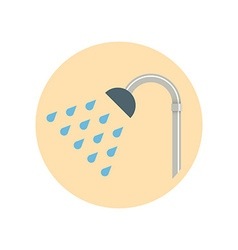 Colorful Flat Design Showerhead icon vector image