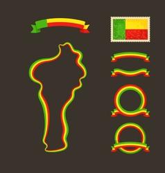 Colors of Benin vector image