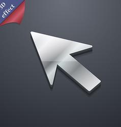 Cursor arrow icon symbol 3D style Trendy modern vector image