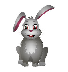 Cute cartoon easter rabbit isolated on white vector